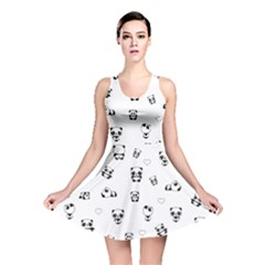 Panda Pattern Reversible Skater Dress