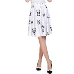 Panda Pattern A Line Skirt