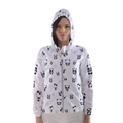 Panda Pattern Hooded Wind Breaker (women)