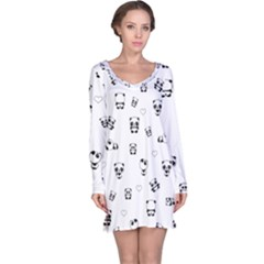Panda Pattern Long Sleeve Nightdress