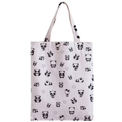 Panda Pattern Zipper Classic Tote Bag