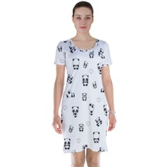 Panda Pattern Short Sleeve Nightdress
