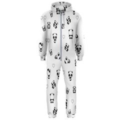 Panda Pattern Hooded Jumpsuit (men)