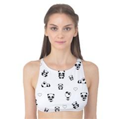 Panda Pattern Tank Bikini Top