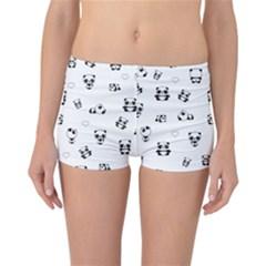 Panda Pattern Reversible Boyleg Bikini Bottoms
