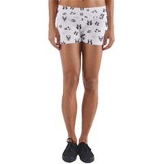 Panda Pattern Yoga Shorts