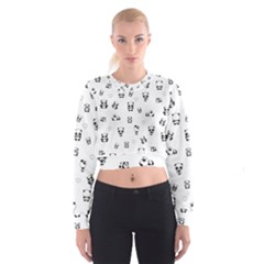 Panda Pattern Cropped Sweatshirt