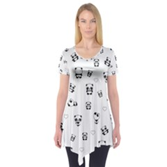 Panda Pattern Short Sleeve Tunic