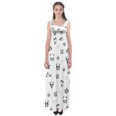 Panda Pattern Empire Waist Maxi Dress