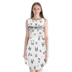 Panda Pattern Sleeveless Chiffon Dress