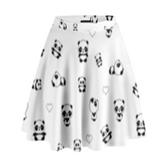 Panda Pattern High Waist Skirt