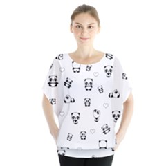 Panda Pattern Blouse
