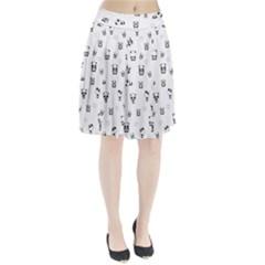 Panda Pattern Pleated Skirt