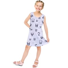 Panda Pattern Kids  Tunic Dress