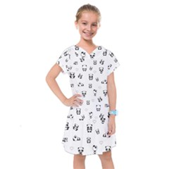 Panda Pattern Kids  Drop Waist Dress