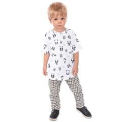 Panda Pattern Kids Raglan Tee
