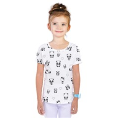 Panda Pattern Kids  One Piece Tee