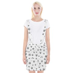 Panda Pattern Braces Suspender Skirt