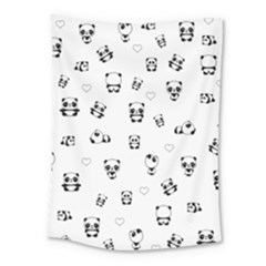 Panda Pattern Medium Tapestry