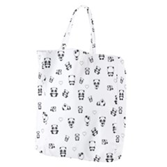 Panda Pattern Giant Grocery Zipper Tote