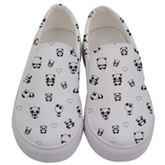 Panda Pattern Men s Canvas Slip Ons