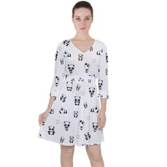 Panda Pattern Ruffle Dress