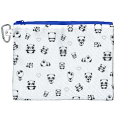Panda Pattern Canvas Cosmetic Bag (xxl)