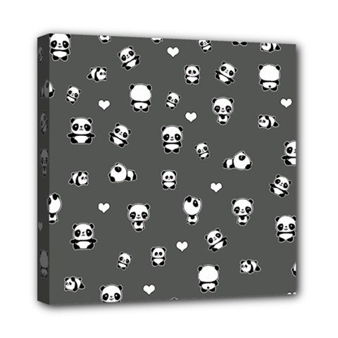 Panda Pattern Mini Canvas 8  X 8