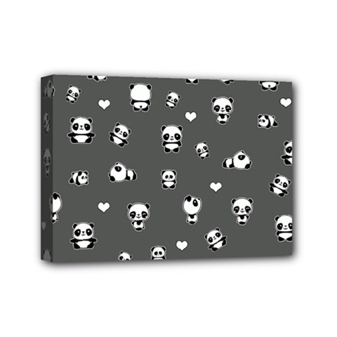 Panda Pattern Mini Canvas 7  X 5