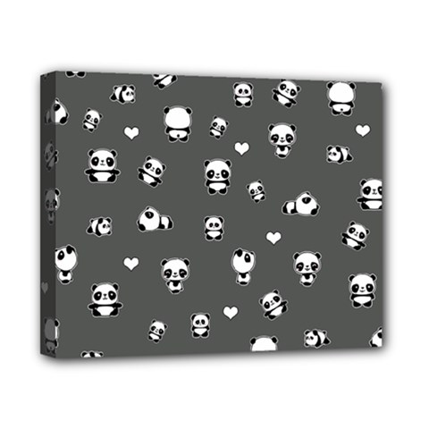 Panda Pattern Canvas 10  X 8