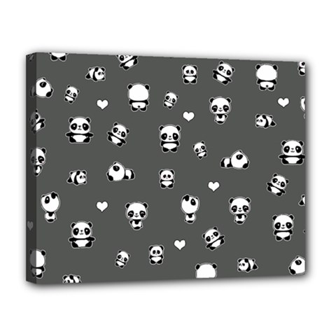 Panda Pattern Canvas 14  X 11