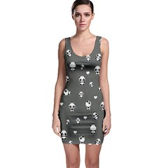 Panda Pattern Bodycon Dress