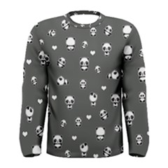 Panda Pattern Men s Long Sleeve Tee