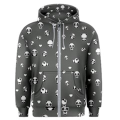 Panda Pattern Men s Zipper Hoodie