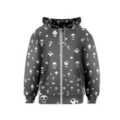 Panda Pattern Kids  Zipper Hoodie