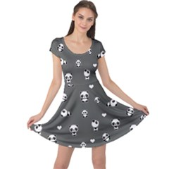 Panda Pattern Cap Sleeve Dress