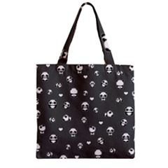 Panda Pattern Zipper Grocery Tote Bag