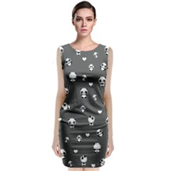 Panda Pattern Classic Sleeveless Midi Dress