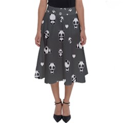 Panda Pattern Perfect Length Midi Skirt