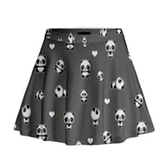 Panda Pattern Mini Flare Skirt