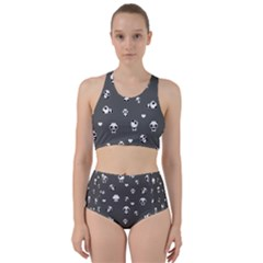 Panda Pattern Racer Back Bikini Set