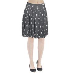 Panda Pattern Pleated Skirt