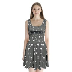 Panda Pattern Split Back Mini Dress