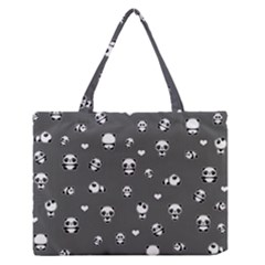 Panda Pattern Zipper Medium Tote Bag