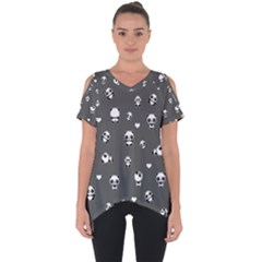 Panda Pattern Cut Out Side Drop Tee