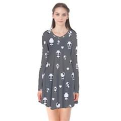 Panda Pattern Flare Dress