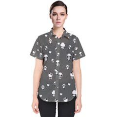 Panda Pattern Women s Short Sleeve Shirt