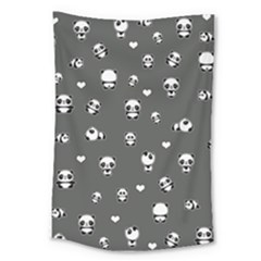 Panda Pattern Large Tapestry