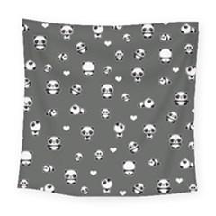 Panda Pattern Square Tapestry (large)