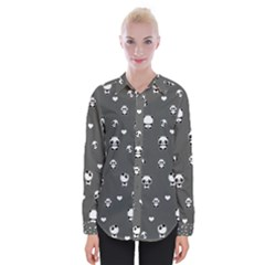 Panda Pattern Womens Long Sleeve Shirt